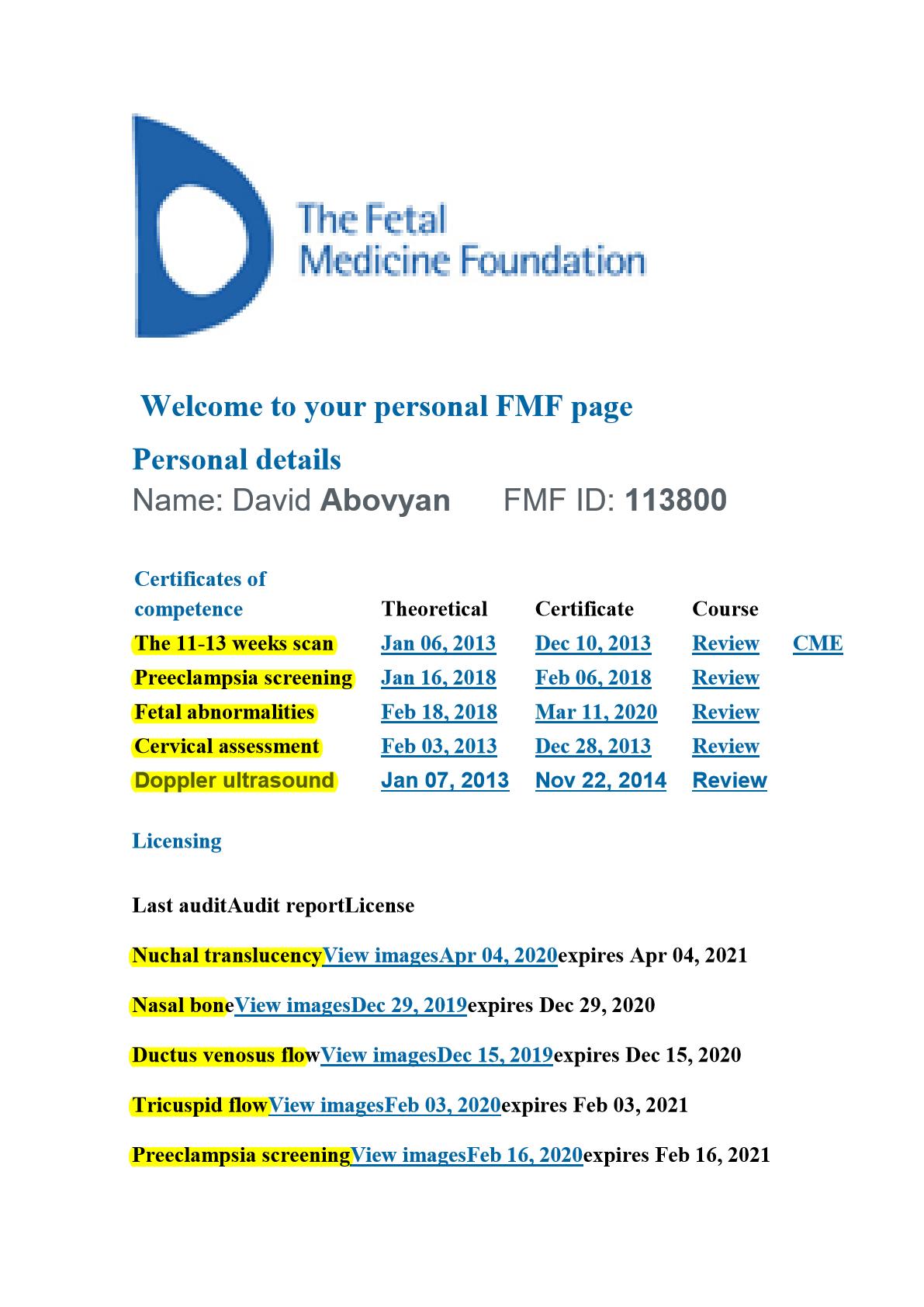 David Abovyan fatal testing